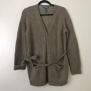Ralph Lauren 100% Lambs Wool knit sweater cardigan